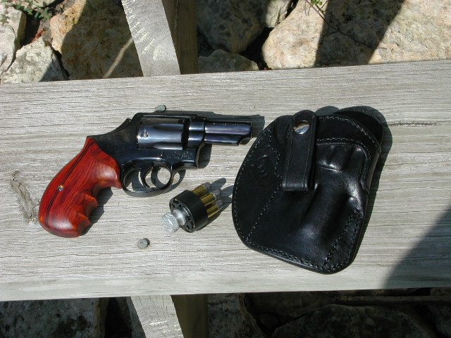 S&W M13 with IWB Holster and speedloader