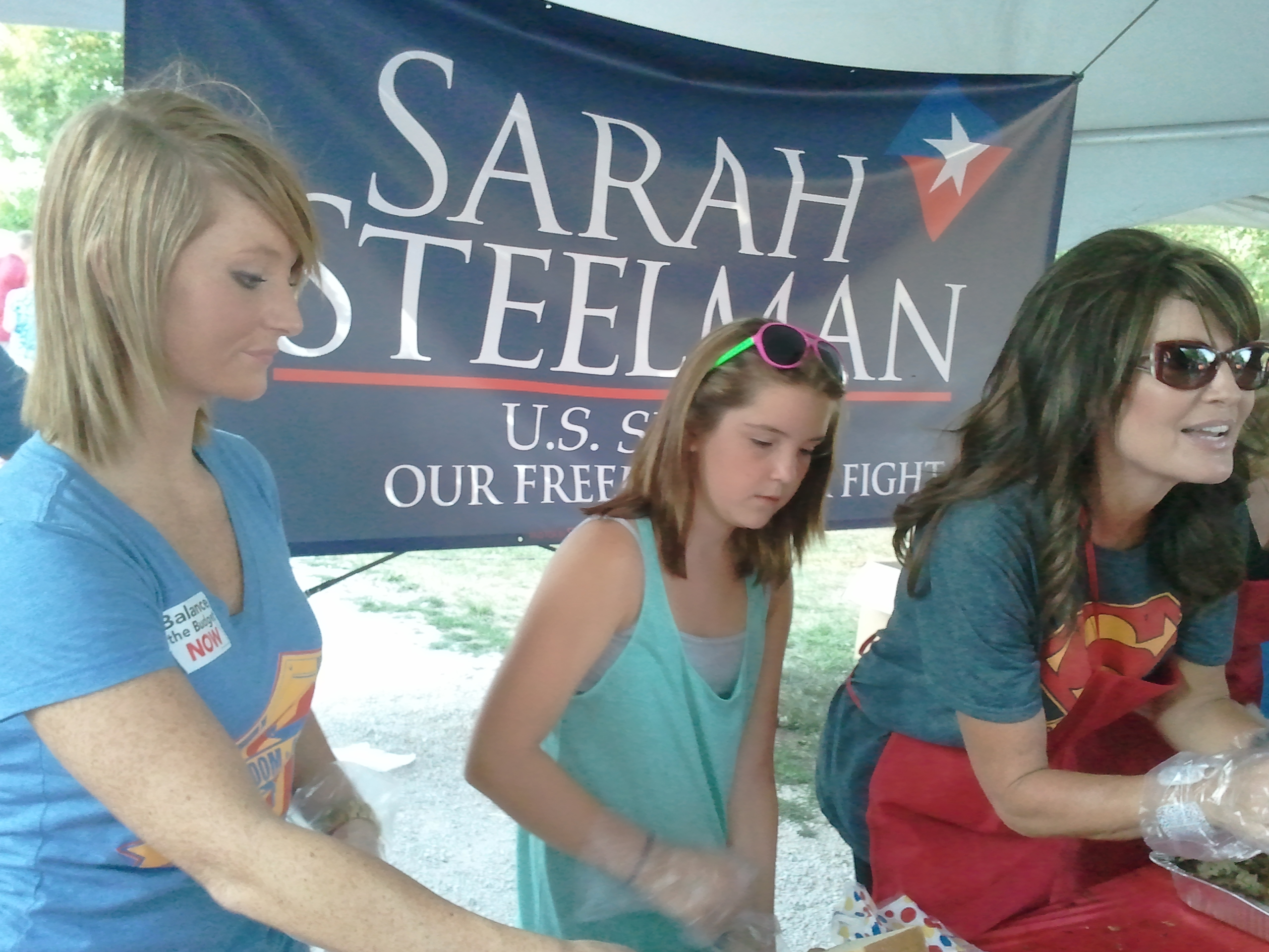 Sarah, Willow, Piper Palin